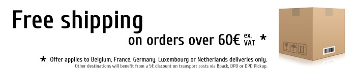 Free shipping on orders over 60€ ex. VAT *