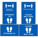 "Social Distancing Floor Mat (60 x 95cm) ""Please wait here"""
