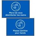 "Social Distancing Floor Mat (60 x 95cm) ""Please sanitise your hands"""